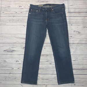 AG The Stevie Slim Straight Crop Jeans Size 29